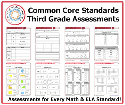 Common Core 3rd Grade Math Worksheets Third Grade Common Core