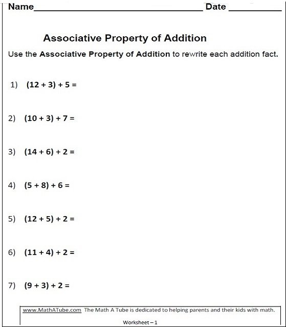 Commutative Property Of Addition Worksheets 2nd Grade The Best