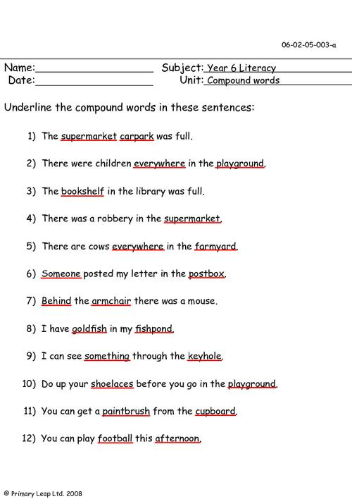 Compound Words 1