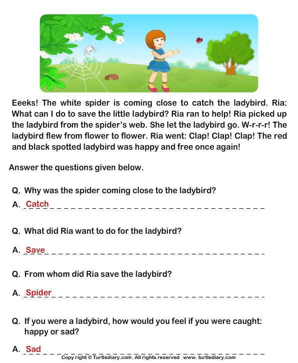 Comprehension For Grade 2 The Best Worksheets Image Collection