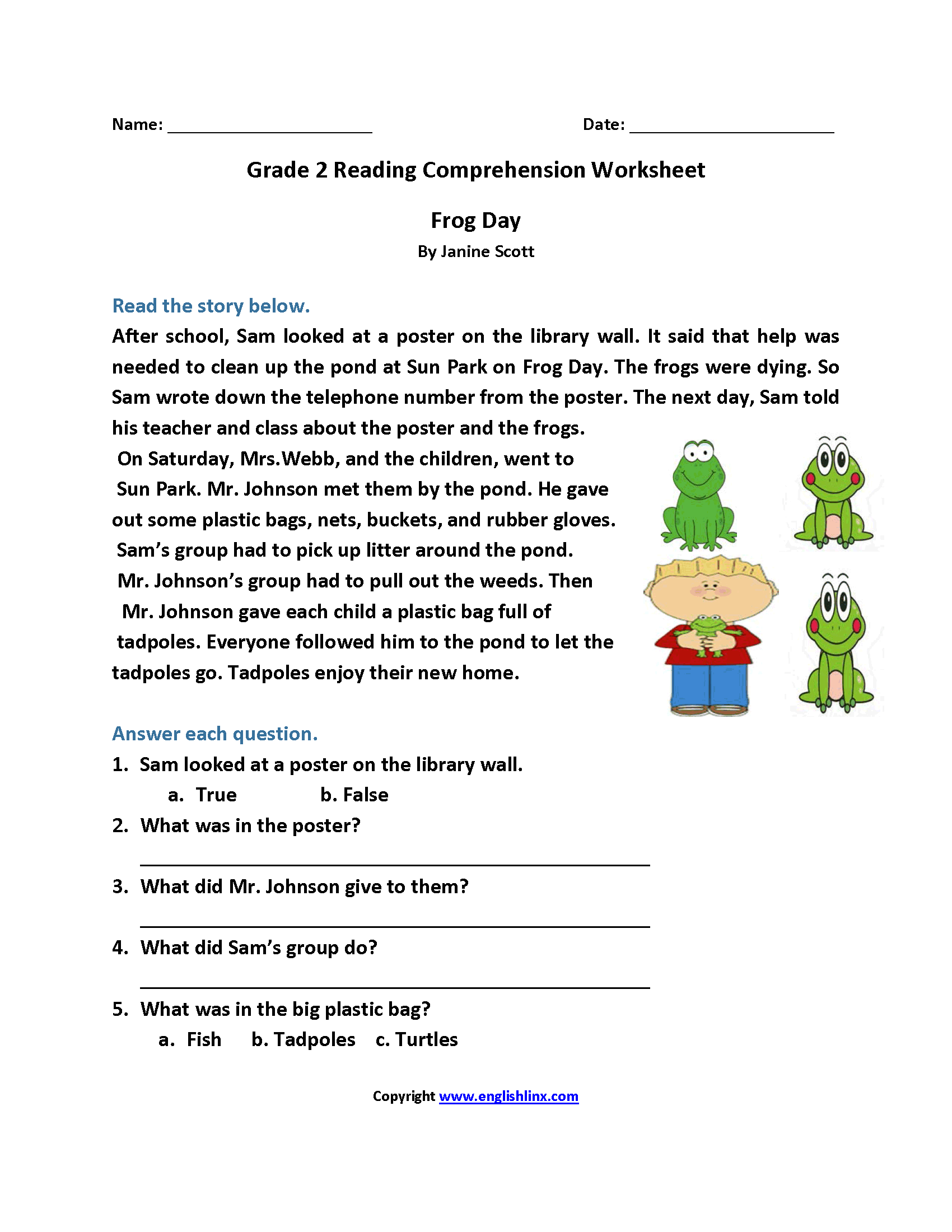 Comprehension Worksheets Grade 4 21692