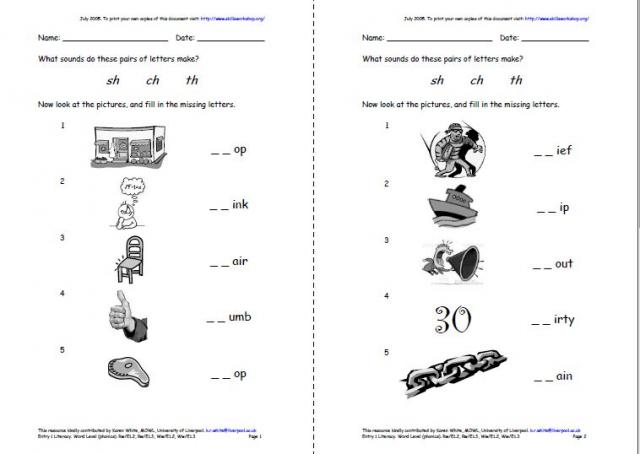 Consonant Digraphs Worksheets The Best Worksheets Image Collection