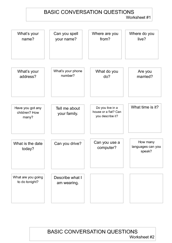 Conversation Worksheets The Best Worksheets Image Collection