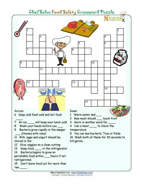 Cooking Worksheets For Middle School The Best Worksheets Image