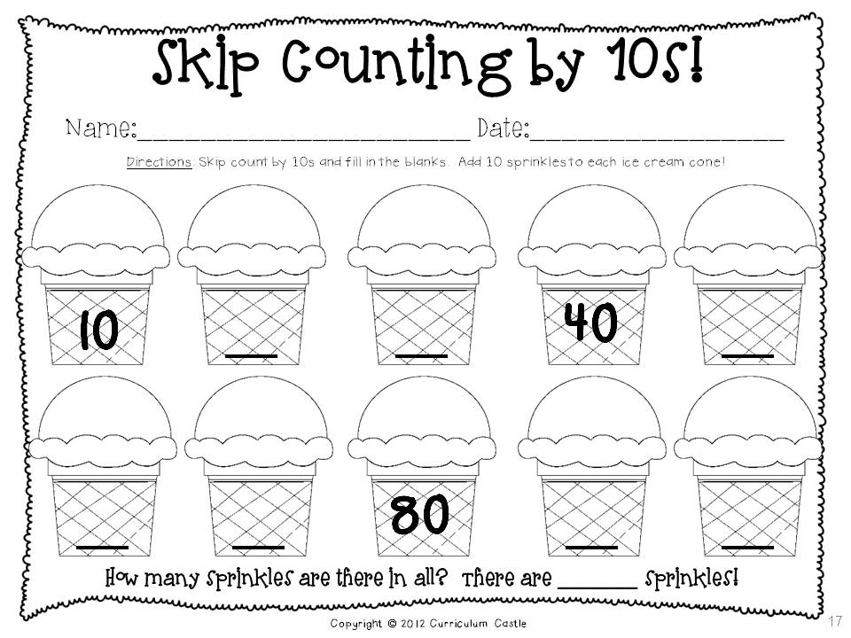 Counting By 10 Worksheets For Kindergarten