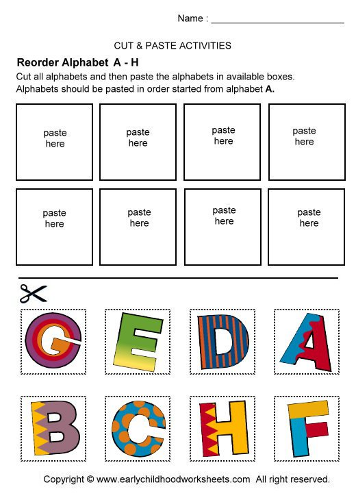 Cut And Paste Worksheets For Pre K The Best Worksheets Image