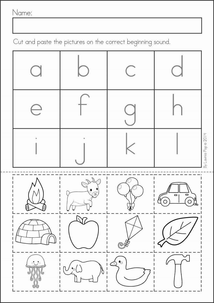 Cut Out And Paste Worksheets For Kindergarten 629826