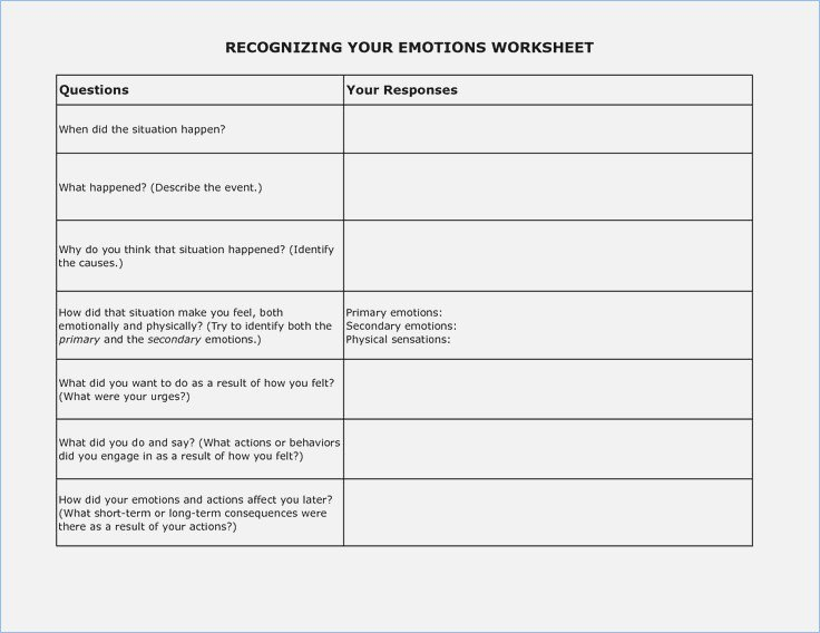 Dbt Emotion Regulation Worksheets Dbt Emotion Regulation