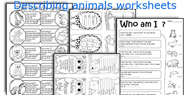Describing_animals_worksheets Jpg
