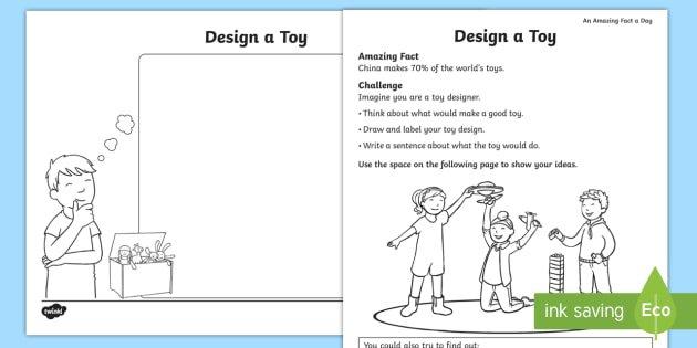 Design A Toy Worksheet   Activity Sheet