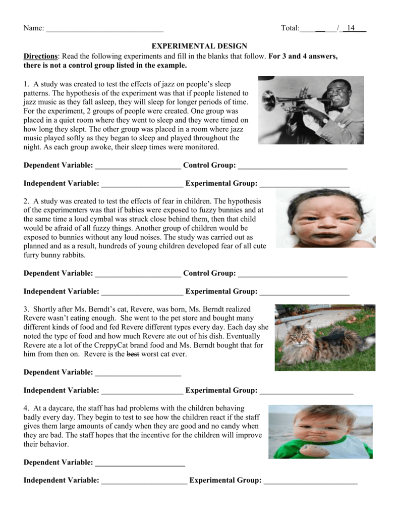 Design An Experiment Worksheet The Best Worksheets Image