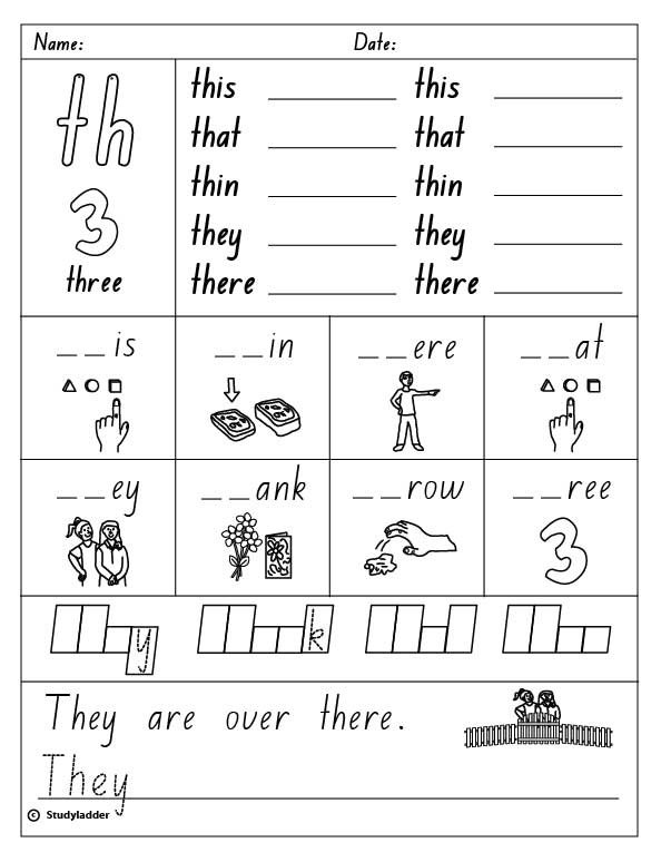 Digraphs  Initial  Th , English Skills Online, Interactive