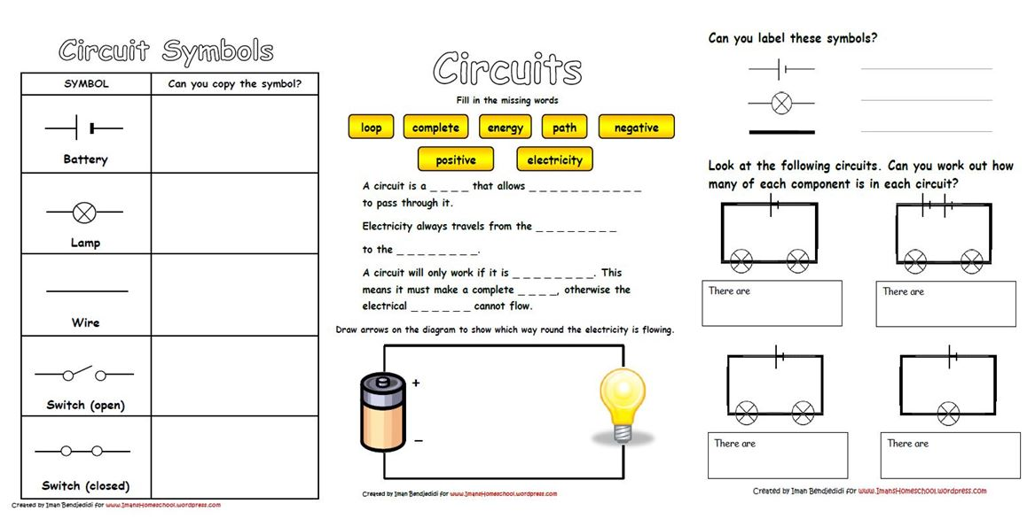 Electrical Circuits Worksheet 1161412