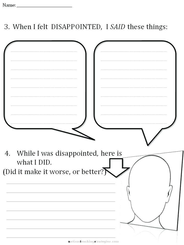 Emotion Worksheet Series 7 Worksheets For Dealing Cognitive Skills