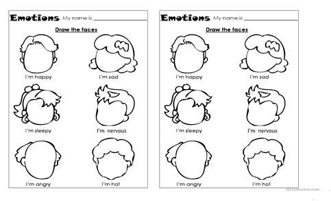 Emotions Worksheets Emotions Worksheet Free Esl Printable