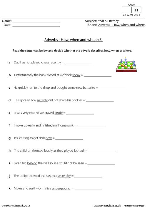 English Worksheet For Grade 5 The Best Worksheets Image Collection