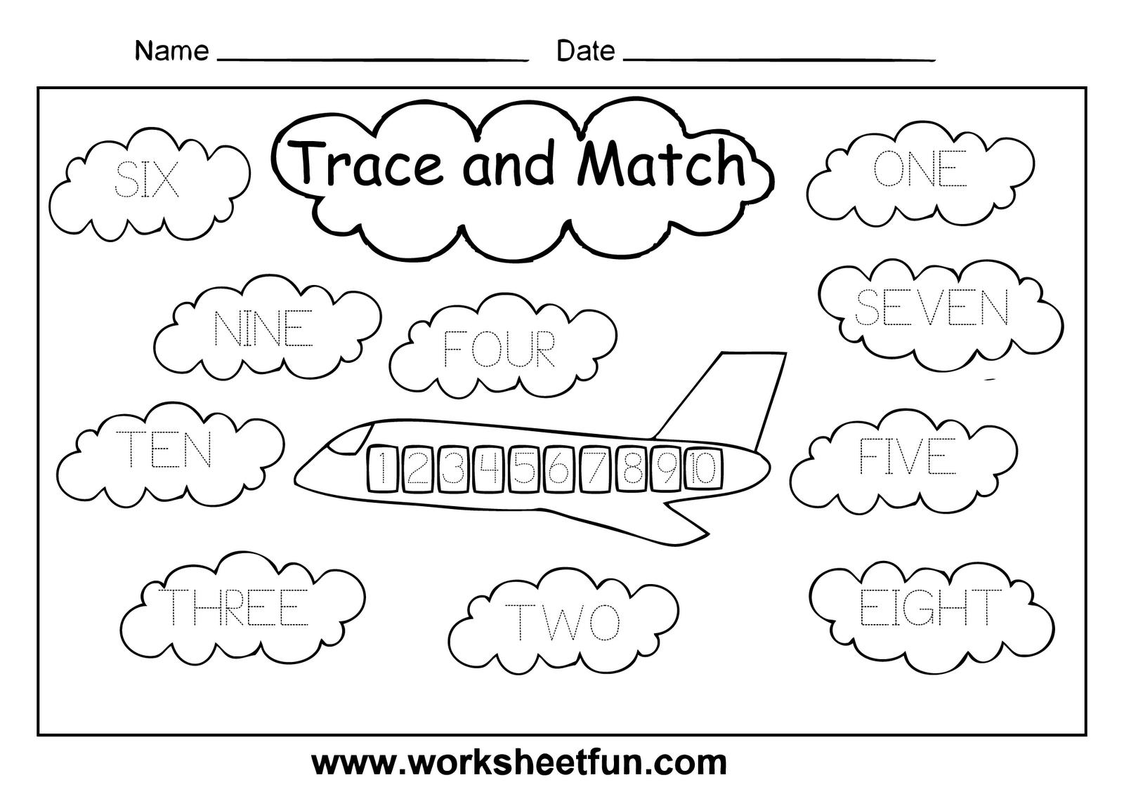 English Worksheets For Kindergarten Numbers 143717