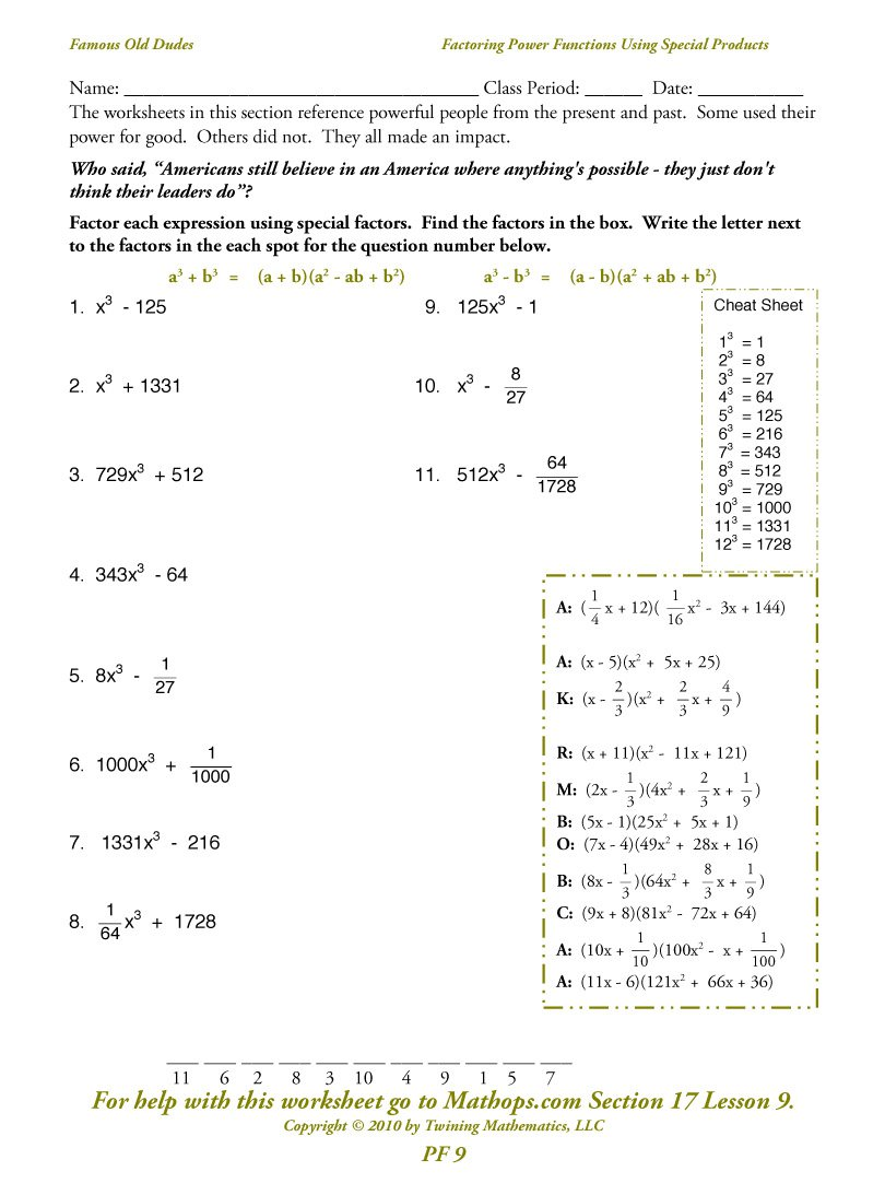 Factoring Polynomials Using Gcf Worksheet The Best Worksheets