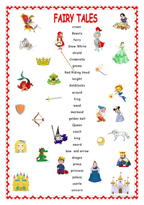 Fairy Tales Matching  Worksheet