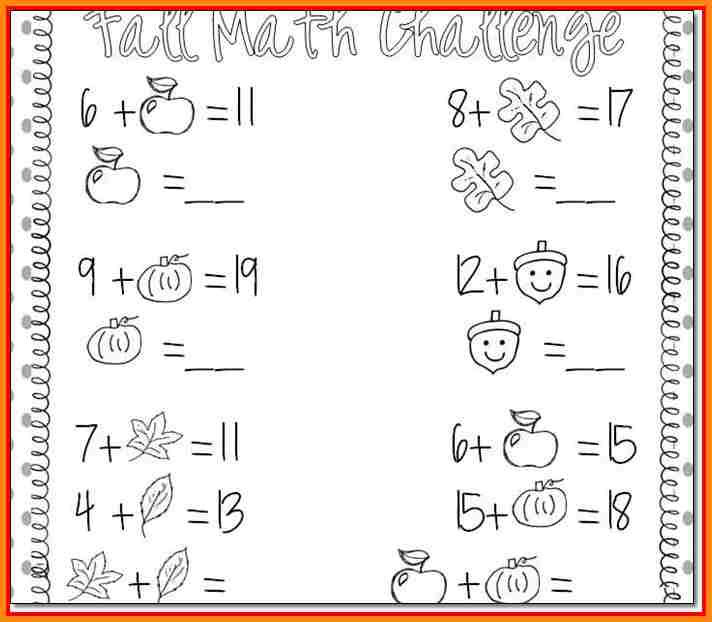 Fall First Grade Math Worksheets The Best Worksheets Image