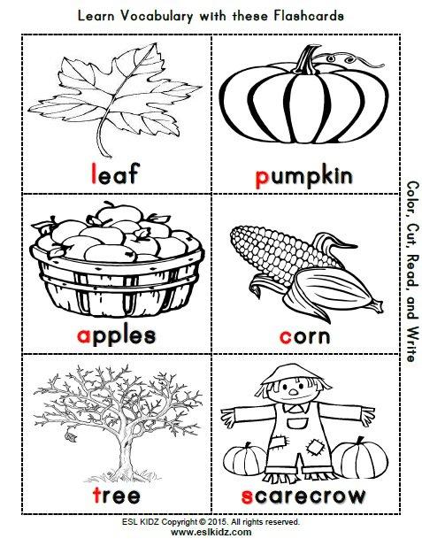 Fall Worksheets For Kindergarten Printable 636614