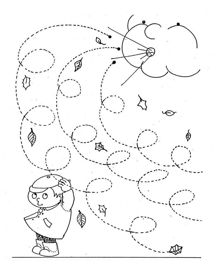 Fall Worksheets For Preschool Kindergarten Printable Color Sight