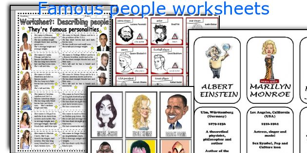 Famous People Worksheets