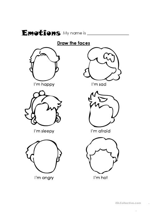 Feelings Worksheet Feelings Worksheet Free Esl Printable