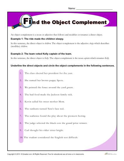 Find The Object Complement