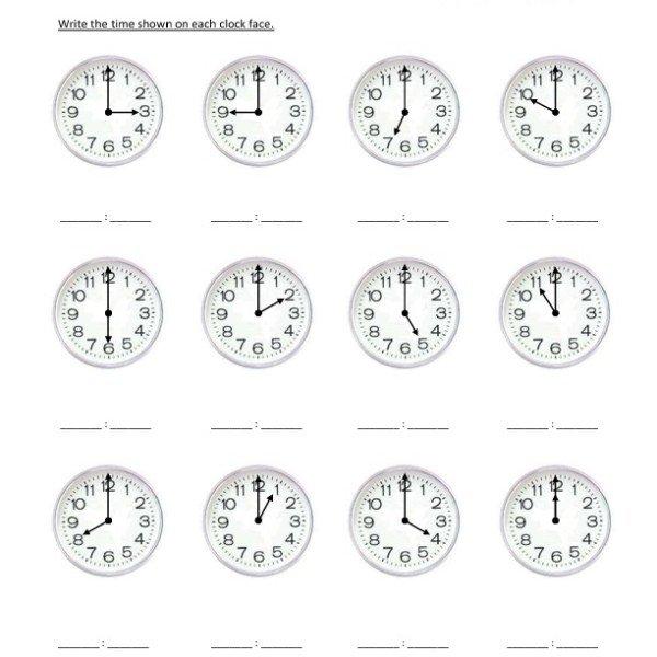 First Grade Reading Clocks Worksheet 06 – One Page Worksheets