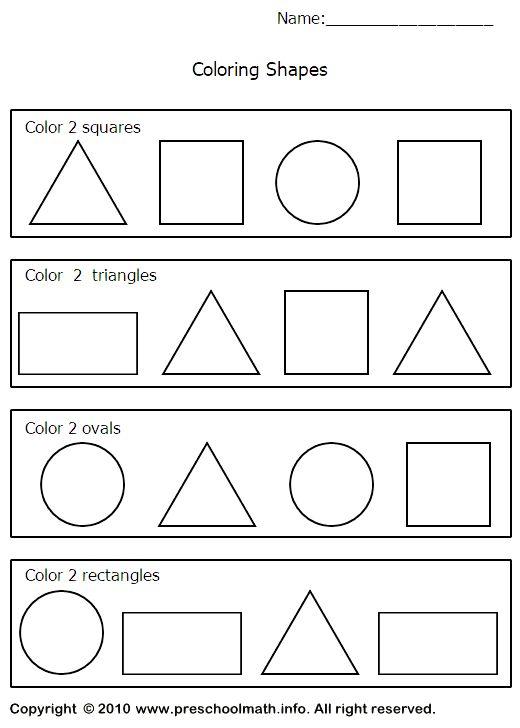 First Grade Shapes Worksheets