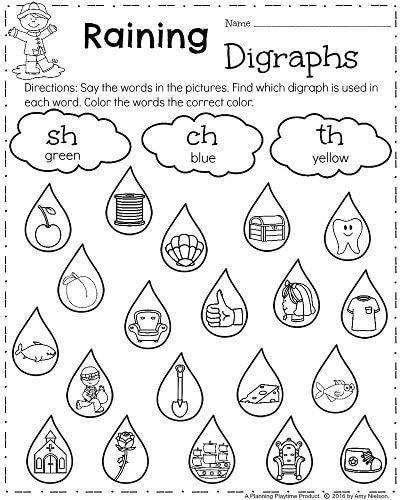 First Grade Worksheets First Grade Worksheets For Spring