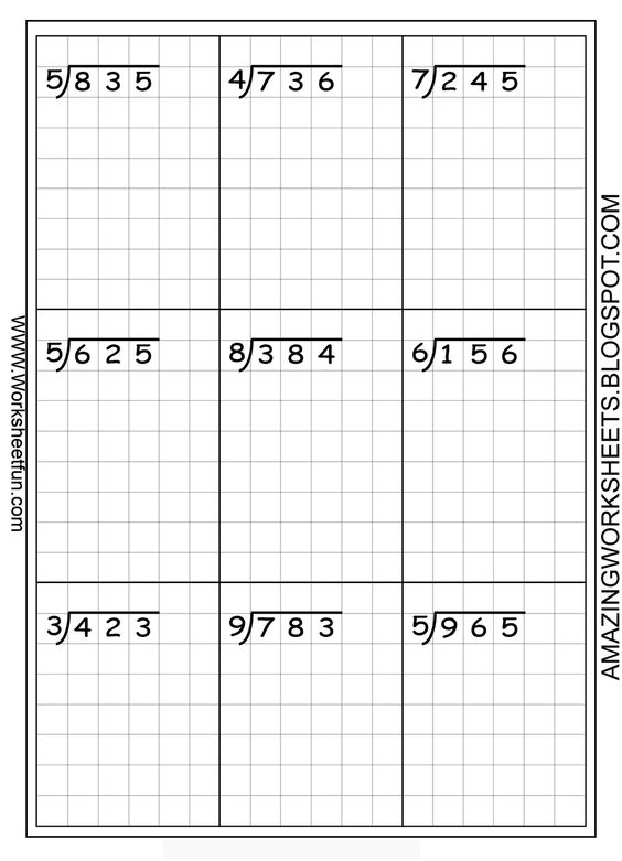Free Division Worksheets For 4th Grade The Best Worksheets Image