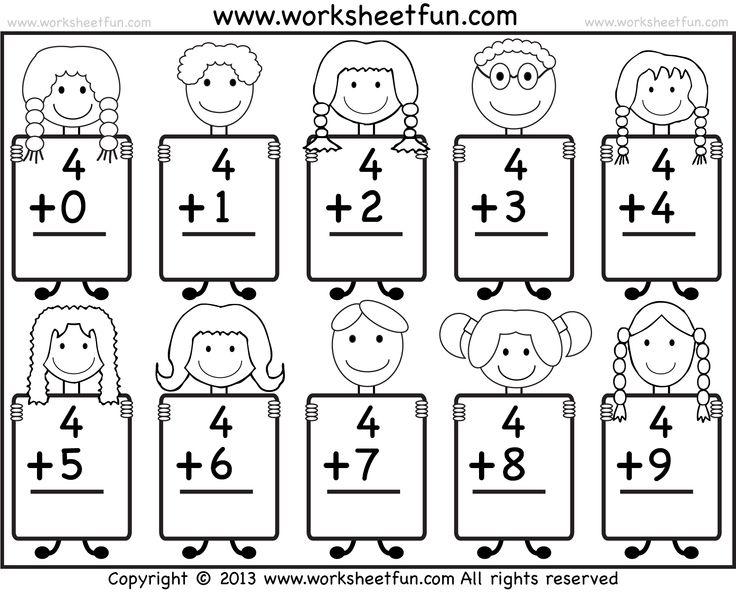 Free Easy Addition Worksheets For Kindergarten 369657