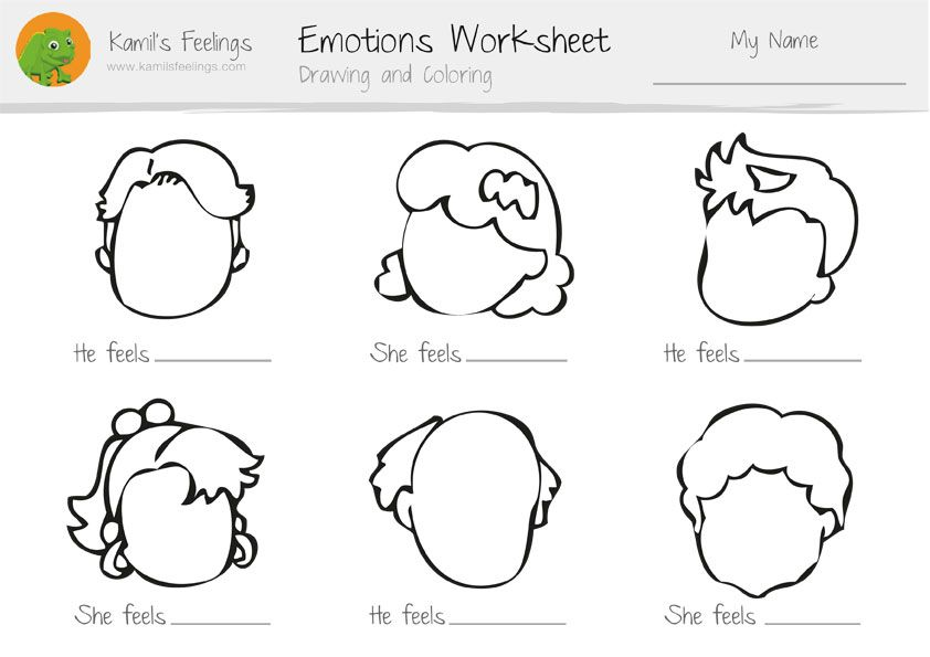 Free Emotions Worksheets For Kindergarten 371102