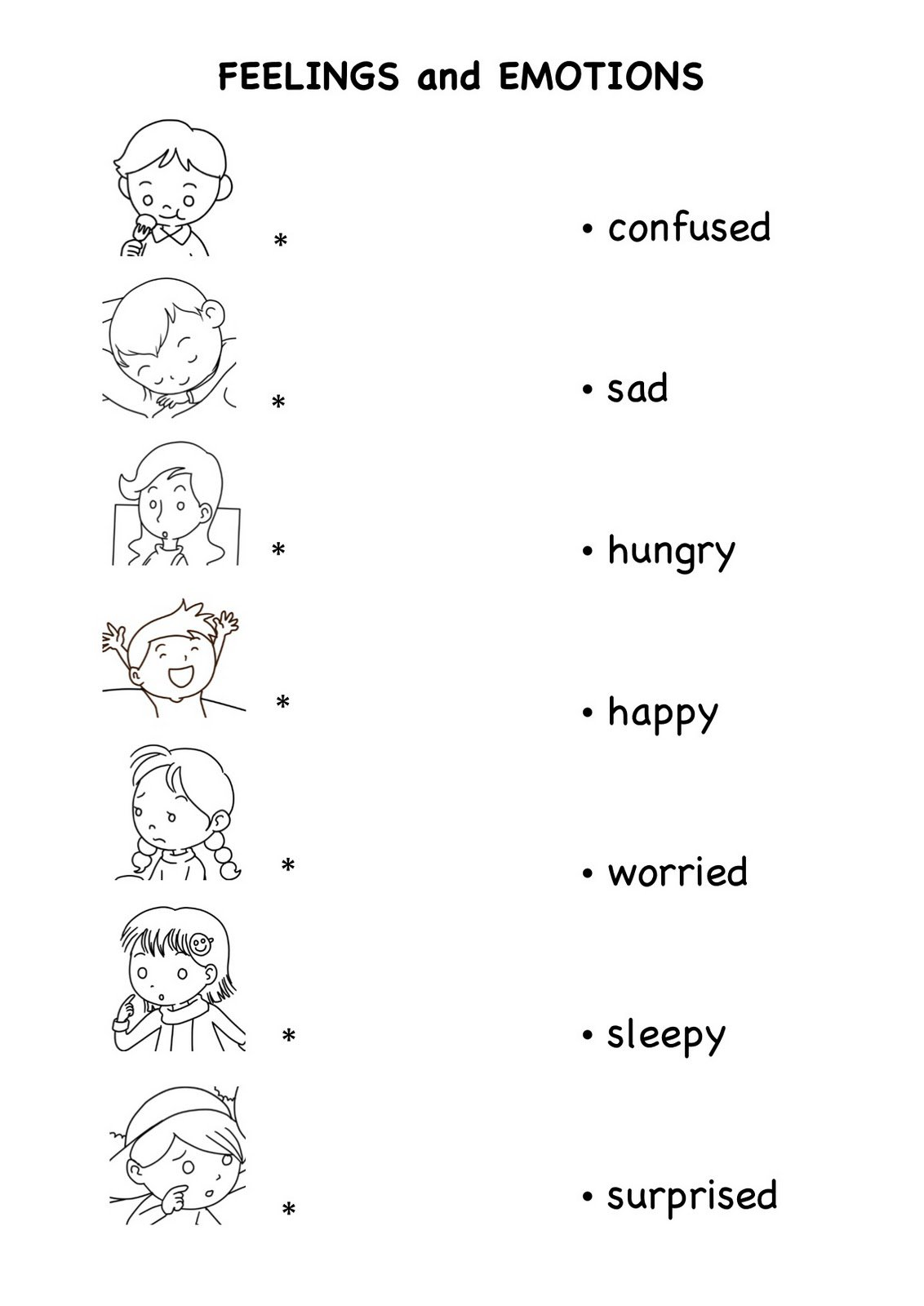 Free Emotions Worksheets For Kindergarten 371107