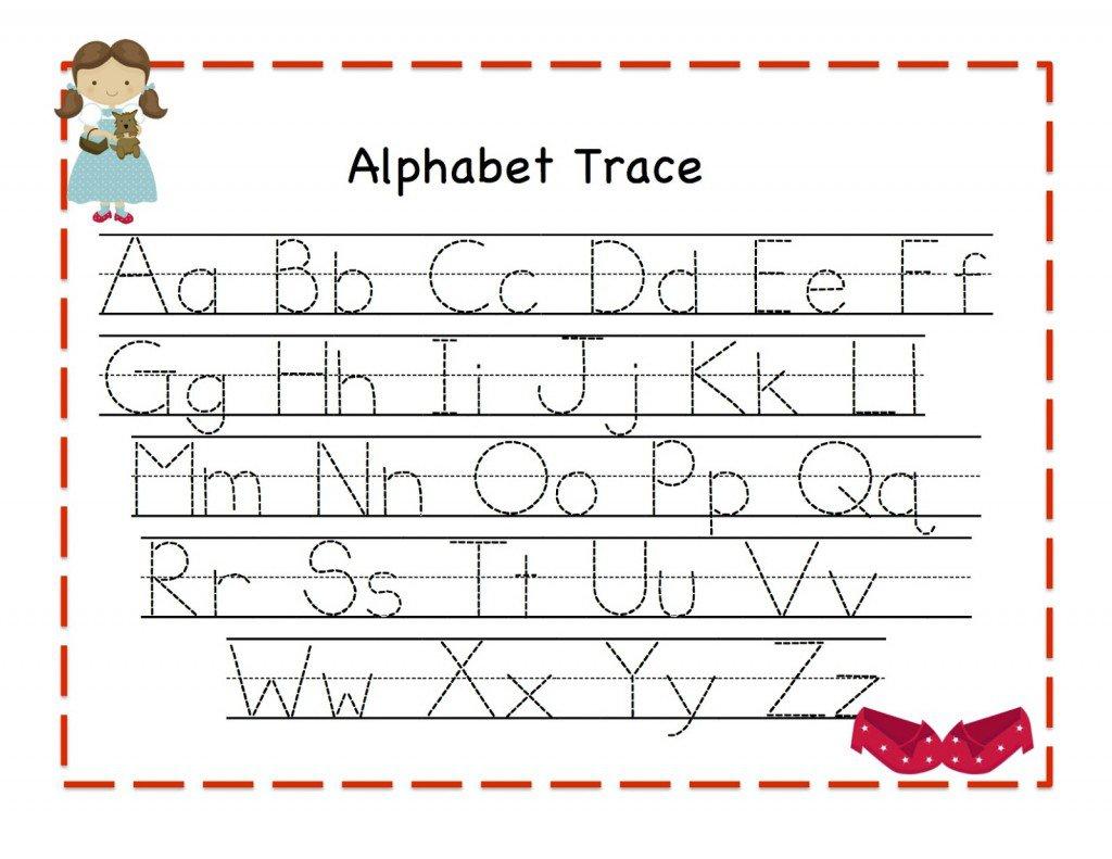 Free Kindergarten Worksheets Tracing Letters 466508