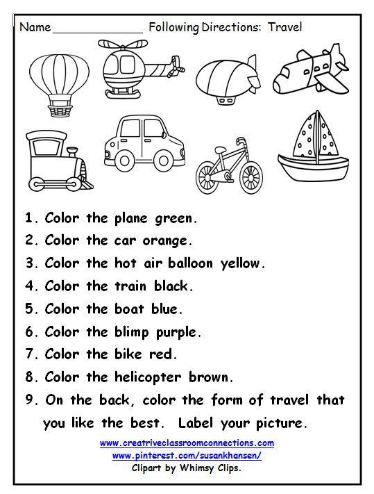 Free Listening Comprehension Worksheets Kindergarten 2958