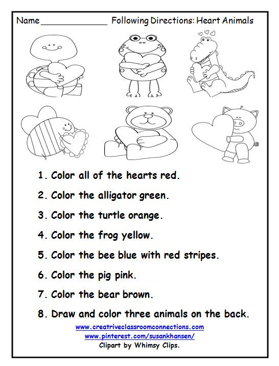 Free Listening Comprehension Worksheets Kindergarten 2980