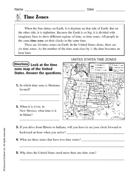 Free Maths Worksheets On Time Zones 177290
