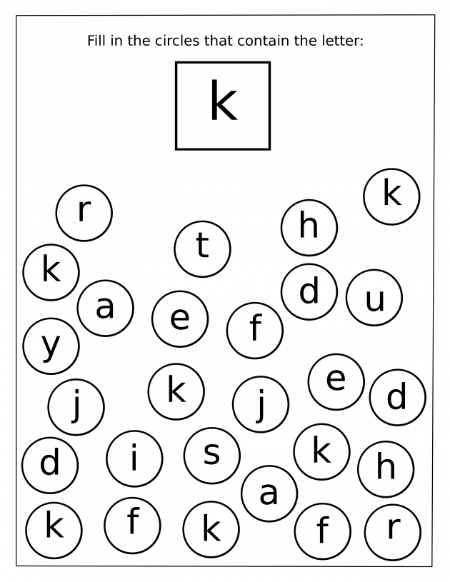 Free Preschool Letter K Worksheets 1138117