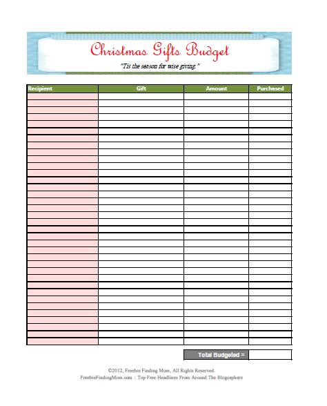 Free Printable Budget Worksheet Template Free Printable Budget