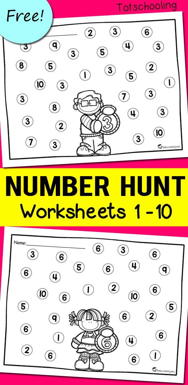 Free Printable Number Recognition Worksheets For Kindergarten