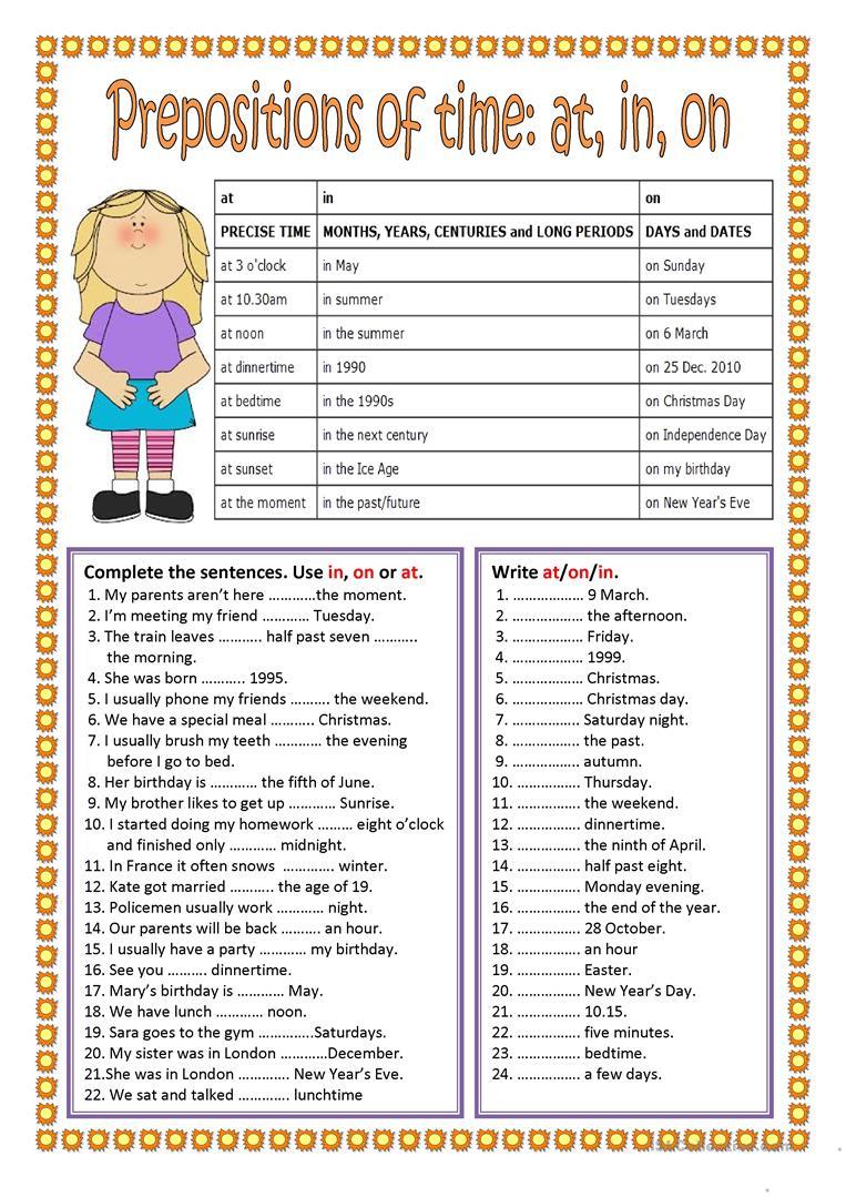 Free Printable Preposition Worksheets For Preschoolers 1038436
