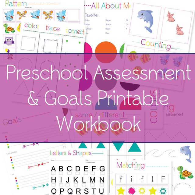 Free Printable Preschool Assessment Workbook