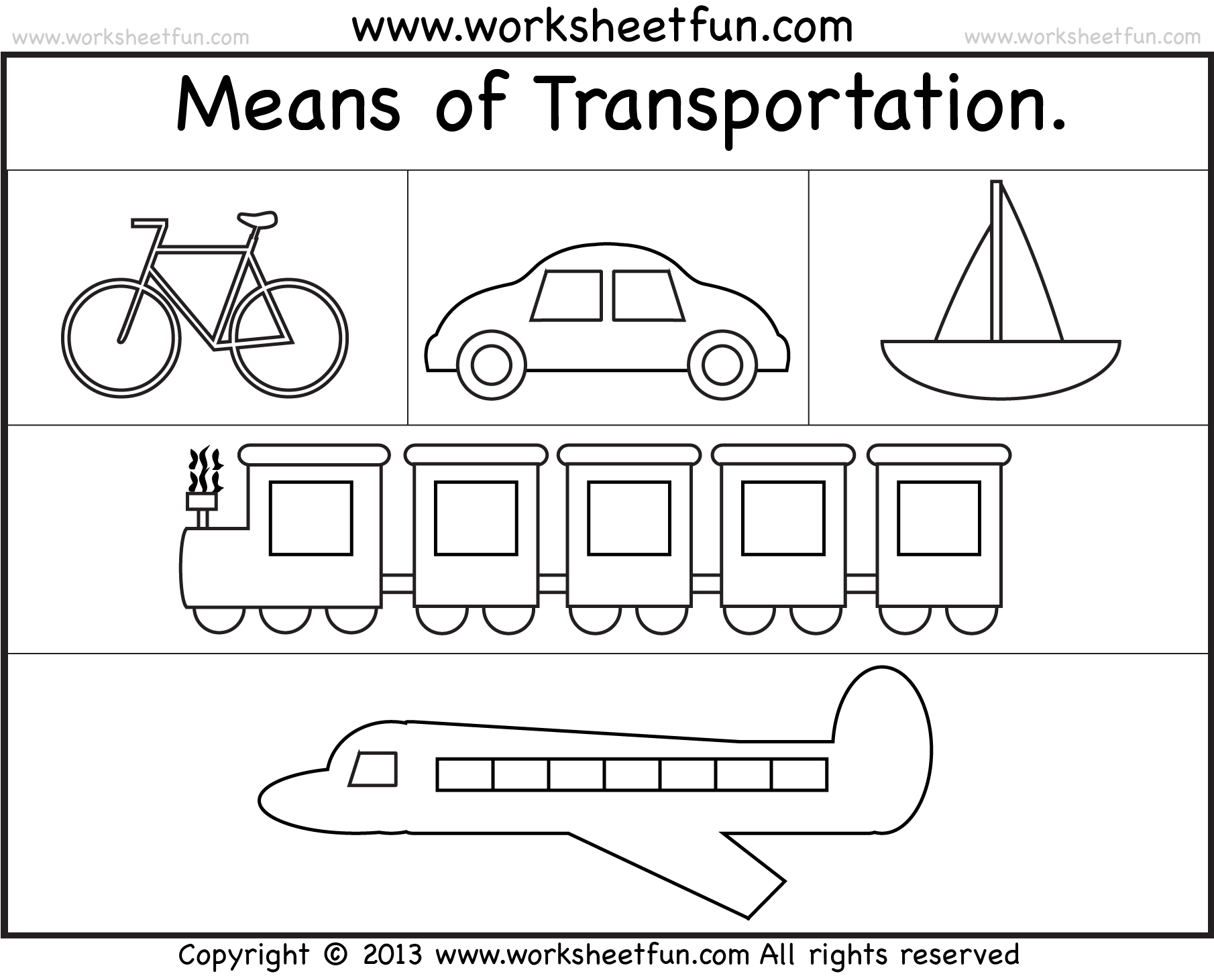 Free Printable Transportation Worksheets For Kindergarten 355021