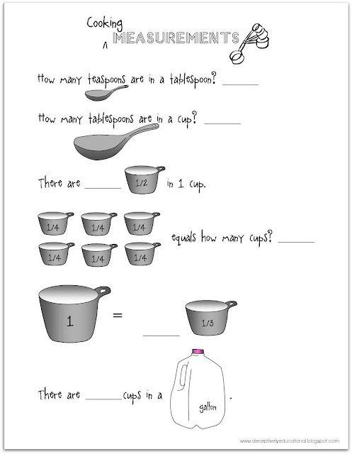 Free Printable Worksheet For Practicing Teaspoons, Tablespoons