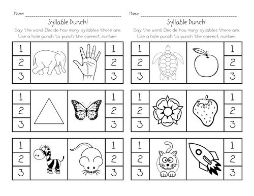 Free Syllable Worksheets Worksheets For All
