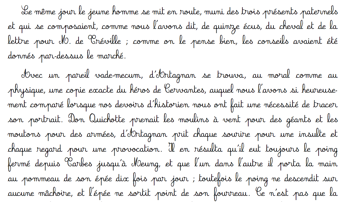 French Script Handwriting Worksheets 1409715