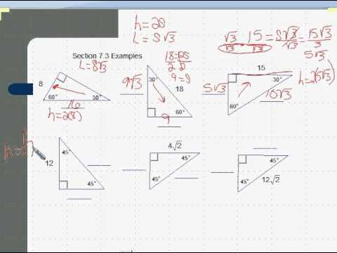 Geo 7 3 Special Right Triangles